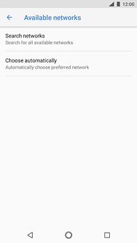 Nokia 6 (2018) - Network - Manually select a network - Step 7