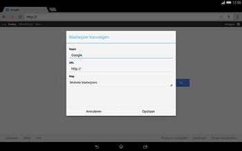 Sony Xperia Tablet Z2 4G (SGP521) - Internet - Hoe te internetten - Stap 7