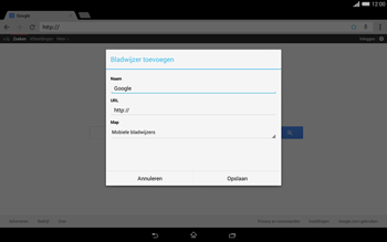 Sony Xperia Tablet Z2 (SGP521) - Internet - internetten - Stap 7