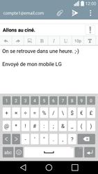 LG H420 Spirit - E-mail - Envoi d