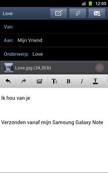 Samsung N7000 Galaxy Note - OS 4 ICS - E-mail - hoe te versturen - Stap 16