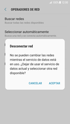 Samsung Galaxy S7 - Android Nougat - Red - Seleccionar una red - Paso 11