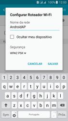 Samsung Galaxy J5 - Wi-Fi - Como usar seu aparelho como um roteador de rede wi-fi - Etapa 7