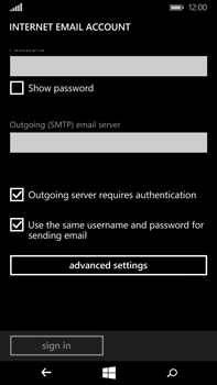 Microsoft Lumia 640 XL - Email - Manual configuration POP3 with SMTP verification - Step 15