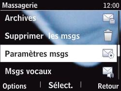 Nokia Asha 201 - Paramètres - Reçus par SMS - Étape 8