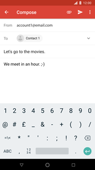 Nokia 8 Sirocco - E-mail - Sending emails - Step 9