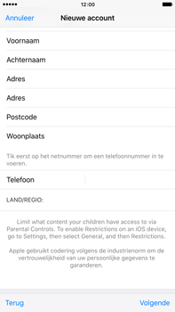 Apple iPhone 6s Plus met iOS 9 (Model A1687) - Applicaties - Account aanmaken - Stap 23