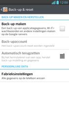 LG P875 Optimus F5 - Instellingen aanpassen - Fabrieksinstellingen terugzetten - Stap 5
