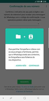 Samsung Galaxy Note 8 - Android Oreo - Aplicações - Como configurar o WhatsApp -  6