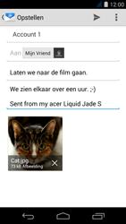 Acer Liquid Jade S - E-mail - Bericht met attachment versturen - Stap 16