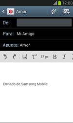 Samsung Galaxy S3 Mini - E-mail - Escribir y enviar un correo electrónico - Paso 9