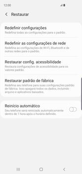 Samsung Galaxy S10 - Funções básicas - Como restaurar as configurações originais do seu aparelho - Etapa 6