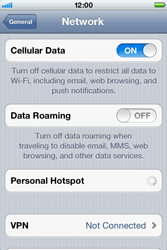 Apple iPhone 4 S - Internet - Disable data roaming - Step 5