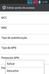 LG Optimus L5 Dual - Internet - Como configurar seu celular para navegar através de Vivo Internet - Etapa 18