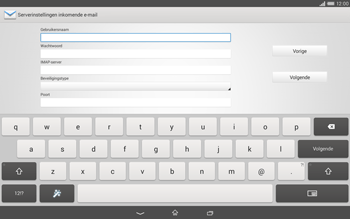 Sony Xperia Tablet Z2 (SGP521) - E-mail - e-mail instellen: IMAP (aanbevolen) - Stap 8