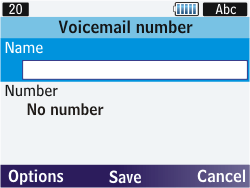 Samsung S3570 Chat 357 - Voicemail - Manual configuration - Step 7