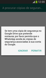 Samsung Galaxy Trend Plus - Aplicações - Como configurar o WhatsApp -  9