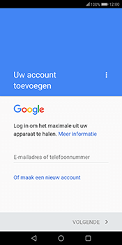 Huawei Mate 10 Lite (Model RNE-L21) - Applicaties - Account aanmaken - Stap 3