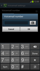 Samsung N7100 Galaxy Note II - Voicemail - Manual configuration - Step 7