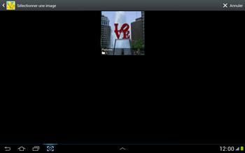 Samsung N8000 Galaxy Note 10-1 - MMS - envoi d'images - Étape 11