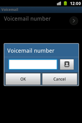 Samsung S7500 Galaxy Ace Plus - Voicemail - Manual configuration - Step 7