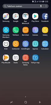 Samsung Galaxy A8 Plus - Contactgegevens overzetten - delen via Bluetooth - Stap 3