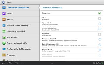 Samsung P7500 Galaxy Tab 10-1 - Funciones básicas - Activar o desactivar el modo avión - Paso 5
