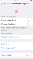 Apple iPhone 7 (Model A1778) - Beveiliging en ouderlijk toezicht - Toegangscode aanpassen - Stap 15