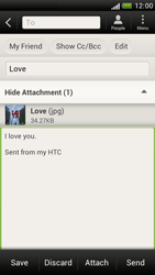 HTC Z520e One S - E-mail - Sending emails - Step 14