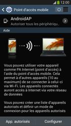Samsung Galaxy S4 - Internet et connexion - Partager votre connexion en Wi-Fi - Étape 7