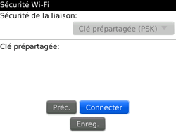 BlackBerry 9300 Curve 3G - WiFi et Bluetooth - Configuration manuelle - Étape 9