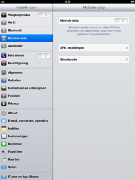 Apple iPad 4 - Internet - Uitzetten - Stap 5
