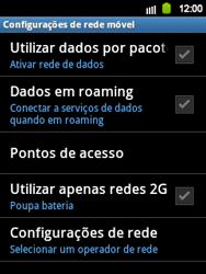 Samsung Galaxy Y - Rede móvel - Como ativar e desativar roaming de dados no seu celular - Etapa 6