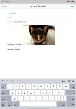 Apple iPad Pro 11 (2018) - Email - Sending an email message - Step 12