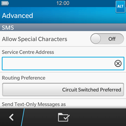 BlackBerry Q5 - SMS - Manual configuration - Step 8