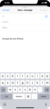 Apple iPhone XS Max - E-mail - envoyer un e-mail - Étape 3