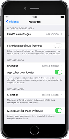 Apple Apple iPhone 6 Plus iOS 10 - iOS features - Fonctions iMessage - Étape 2
