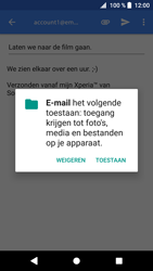 Sony Xperia XZ1 (G8341) - E-mail - Bericht met attachment versturen - Stap 11