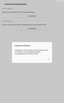 Samsung Galaxy Tab A 10.1 - Android Nougat - Contacten en data - Contacten kopiëren van toestel naar SIM - Stap 9