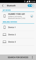 Huawei Ascend Y330 - Bluetooth - Pair with another device - Step 6