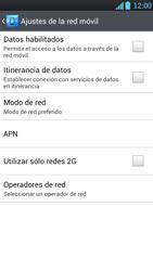LG Optimus L9 - Red - Seleccionar una red - Paso 6