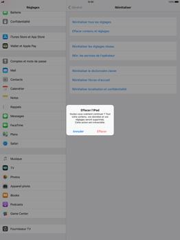Apple Apple iPad Pro 12.9 - iOS 11 - Device maintenance - Retour aux réglages usine - Étape 7