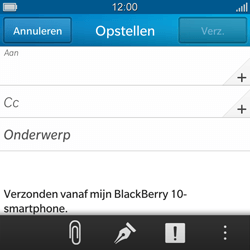 BlackBerry Q10 - E-mail - Hoe te versturen - Stap 6