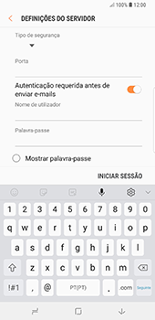 Samsung Galaxy Note 8 - Android Oreo - Email - Configurar a conta de Email -  15