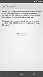Sony D2303 Xperia M2 - Resetten - Fabrieksinstellingen terugzetten - Stap 7