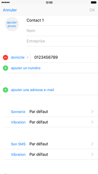 Apple iPhone 6s Plus - Contact, Appels, SMS/MMS - Ajouter un contact - Étape 10