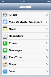 Apple iPhone 4 S iOS 6 - Email - Manual configuration - Step 3