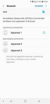 Samsung Galaxy A8 Plus - Bluetooth - headset, carkit verbinding - Stap 9
