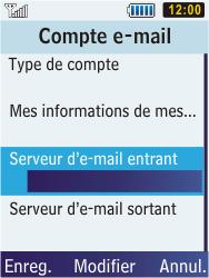 Samsung C3350 Xcover 2 - E-mail - Configuration manuelle - Étape 19