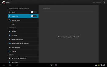 Sony Xperia Tablet Z - Bluetooth - Conectar dispositivos a través de Bluetooth - Paso 5